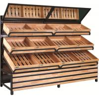 Buy cheap super markets wooden shelf/ supermarket wooden shelf/ supermarket vegetable and fruit disp from wholesalers