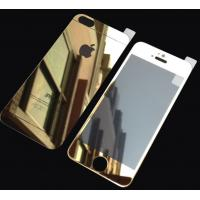 Buy cheap Gold Tempered Glass Screen Protector Mirror Film For Iphone 5s Front Back from wholesalers