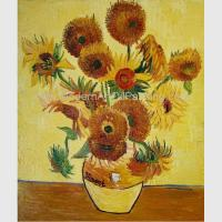 Buy cheap Contemporary Sunflower Floral Oil Painting On Canvas Van Gogh Masterpiece product