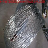Buy cheap galvanized razor barbed wire factory price,iron razor barbed wire fence,low carbon razor barbed wire mesh from wholesalers