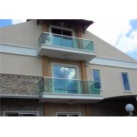 Buy cheap Balcony Frameless Glass Railings , U Channel Glass Stair Balustrade Systems from wholesalers