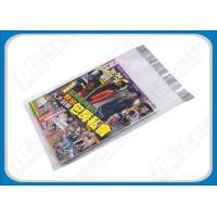Buy cheap Custom Printed Poly Mailers Self-Seal Transparent Poly Envelopes For Brochures , Catalogue from wholesalers