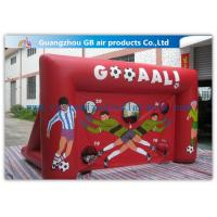 Buy cheap Red Funny Boys Inflatable Football Game / Inflatable Sports Arena For Ball Shooting from wholesalers