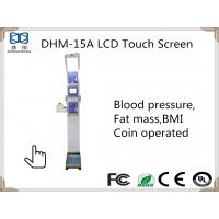 Buy cheap DHM-15A Ultrasonic Height and weight Body scale with Fat Mass and Blood Pressure Monitor from wholesalers