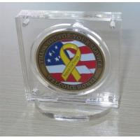 Buy cheap Military Challenge Coin Poker Chip Display Case Holder with Stand, Clear Acrylic with Magn from wholesalers