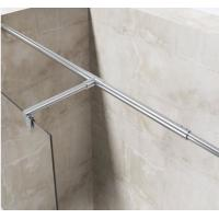 Buy cheap European Portable Acrylic Plastic Base Tray Frameless Walk in Glass Shower Screen with Stainless Steel Support Bar from wholesalers