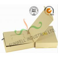 Buy cheap Brown Color Custom Printed Corrugated Cardboard Gift  Boxes Rigid Foldable from wholesalers