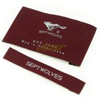 Buy cheap Garments Woven Labels Small Quantities , High Density Woven Apparel Labels product