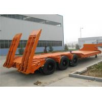 Buy cheap 50 / 80 / 100 tons heavy duty trailer low flat bed semi trailer carbon steel from wholesalers