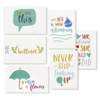 Buy cheap 6 Types Unique Holiday Cards / Inspiring Motivational Cards With Envelopes from wholesalers