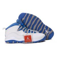 Buy cheap Nike Air Jordan 10 Retro White/Old Royal-Stealth Grey sports shoes 666 from wholesalers