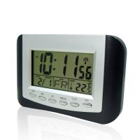 Quality Two AAA Batteries HD-5302C Digital Thermometers, Radio Controlled LCD Clock for sale