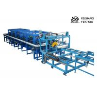 Buy cheap Blue Color Sandwich Panel Roll Forming Machine / Continuous Sandwich Panel Production Line from wholesalers