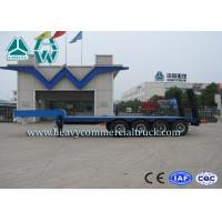 Buy cheap 4 Axles Low Bed Vehicle Low Flatbed Trailer For Special / Heavy Duty Transports from wholesalers