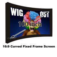 Buy cheap Made In China Best Price 100 Inch Curved Fixed Frame 16:9 Projection Screen For 3D Image from wholesalers