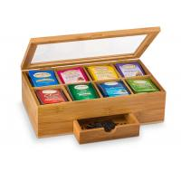 Buy cheap Antibacterial Bamboo Storage Organizer Tea Chest For Stable Moving And Storing from wholesalers
