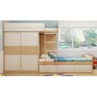 Buy cheap Custom home furniture children wooden double bed designs bunk beds with storage drawers from wholesalers