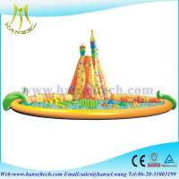 Buy cheap Hansel Inflatable Water Trampoline With Small Slides For Family Swimming Pool Water Park from wholesalers