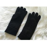 Buy cheap Double face sheepskin fleece / wool Lined gloves hand-sewn sueded sheepskin glove from wholesalers
