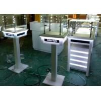 Buy cheap White Painting Color Lockable Glass Display Case For Jewelry Exhibition from wholesalers