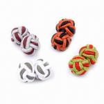 Buy cheap Silk knot cufflinks, 1.0cm diameter from wholesalers