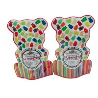 Buy cheap Glossy Surface Stand Up Pouches No Zipper Food Grade Shaped Pouch With Euro Hole from wholesalers