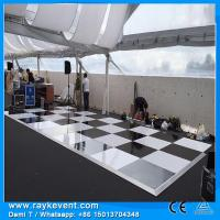 Buy cheap RK High quality 18mm plywood white/black  flooring for dance hall event decorating materials from wholesalers