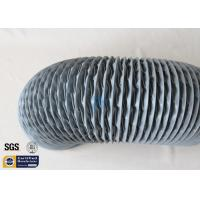 Buy cheap PVC Coated Fiberglass Fabric Flexible Air Ducts 200MM 10M Grey 260℃ HAVC System from wholesalers
