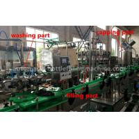 Buy cheap Energy Drink Glass Bottle Filling Machine 220V / 380V Voltage For Small Scale Beverage Factory from wholesalers