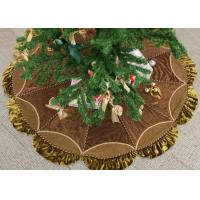 Customized Modern Christmas Tree Skirt , Polyester / Velvet Christmas Tree Skirts