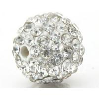 Buy cheap Fashional 10mm Clear Pave Shamballa Crystal Ball bracelet beads for jewellery from wholesalers