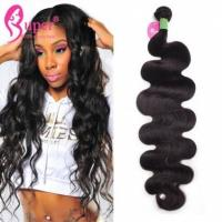 Buy cheap Soft Smooth Real Human Mink Hair Extensions Virgin Weave Bundles Natural Black from wholesalers