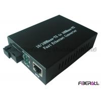 Buy cheap Fast Ethernet Optical Fiber Media Converter With WDM 1x9 Optical Module SM 40Km from wholesalers