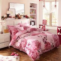 Buy cheap Luxury 4 Piece Cotton Bedding Sets King Size / Twin Size Embroidered Flower from wholesalers