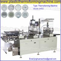 Buy cheap CE Standard Automatic cup lid/cover thermoforming Machine for paper cut, plastic cup from wholesalers