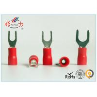 Buy cheap Red SV series Copper Electrical Insulated Wire Spade Connectors AWG 22~16 from wholesalers