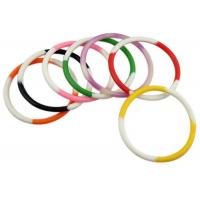 Buy cheap 1/4 Inch Custom Logo Rubber Bracelets Personalised Silicone Wristbands from wholesalers