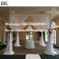 Buy cheap Aluminum trade show photo booth displays pipe and drape wedding tent ceiling drapes backdrop kits from wholesalers