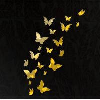Buy cheap DIY 3D Modern 20pcs Butterfly Wall Stickers Silver Acrylic Mirror Surface Wall Stick Home from wholesalers