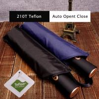 Buy cheap 23 Inch 8 Ribs 210T Top Quality Teflon Coating Man Style Travel Umbrella from wholesalers