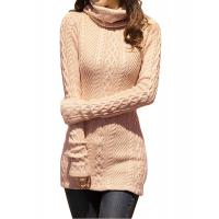 Buy cheap Slim Fit Turtleneck Fashion Pullover Sweaters Cable Knit Jumper Womens from wholesalers