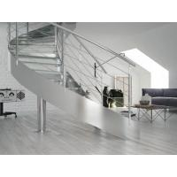 Stainless Steel Curved Glass Staircase 99813728