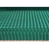 Buy cheap PVC Coated Wire Mesh Fence Panels For Highway / Construction Green Color from wholesalers