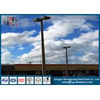 Buy cheap Powder Coated Conical Tubular Flood Light Poles with Shoe Box light 4 ~ 8 mm Wall thick from wholesalers