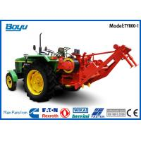 Buy cheap Self-propelled Pulling Tractor Machine Groove number 8 Bull wheel 450mm Max steel rope 18mm from wholesalers
