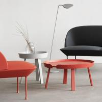 Buy cheap Small Side Round Metal Coffee Table Muuto Around Solid Wood  TableConcise Design from wholesalers