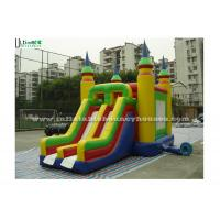 Buy cheap Bright Colored Small Inflatable Bouncy Castles With Slide  for Children from wholesalers