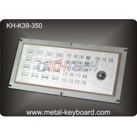 Anti - vandal Industrial Metal Kiosk Keyboard with Laser Trackball , dustproof keyboard