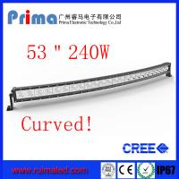 Buy cheap 53 240W Curved Led Light bar-Cree Single Row Led Light Bar from wholesalers