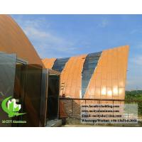 Buy cheap Curved aluminum panel formed cladding panel for roof cladding from wholesalers